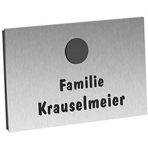 Aufputz Funkklingel Edelstahl SUPER FLACH 130x100x8mm, Design Funk Haustürklingel mit 400m Reichweite und 52 Türklingel Melodien - Modell Tanja