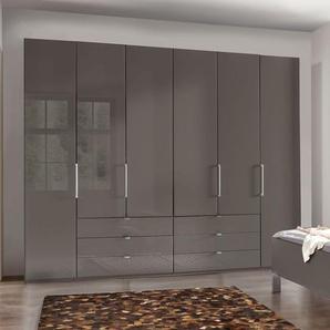Funktions-Kleiderschrank taupe mit Schubladen und Falttüren - Harrow