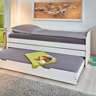 Funktionsbett aus massiver Kiefer 3 Schlafplätze 90x200 cm - 3-in-1