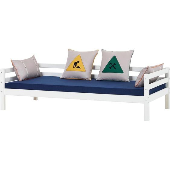 Funktionsbett, 90x200 cm, FSC®-zertifiziert, weiß, Material Holz »Construction«, Hoppekids