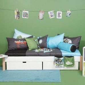 Einzelbett Ull mit Schubladen, 90 x 200 cm