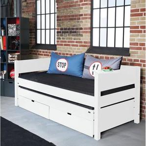 Funktionsbett Luna mit Ausziehbett und Schubladen, 90 x 200 cm