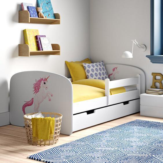Funktionsbett Einhorn mit Matratze und Schublade