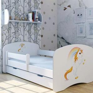 Funktionsbett Fairy Unicorn mit Matratze und Schublade