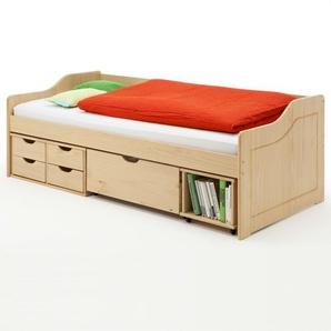 Funktionsbett Bozeman mit Schubladen, 90 x 200 cm
