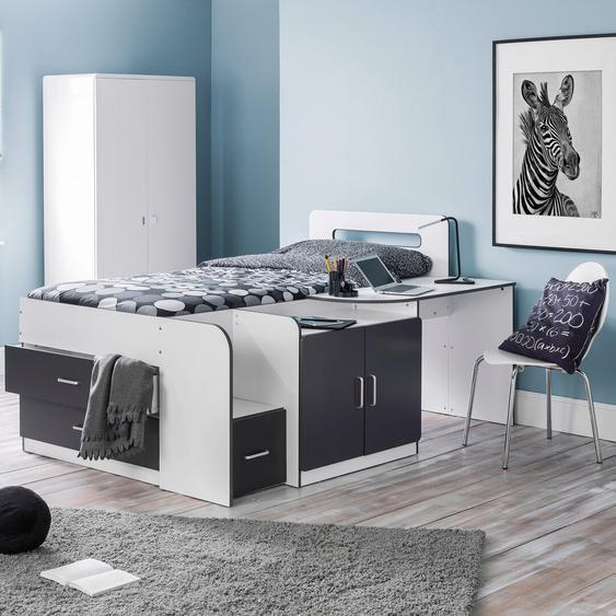 Funktionsbett Rockwood mit Schubladen, 90 x 190 cm