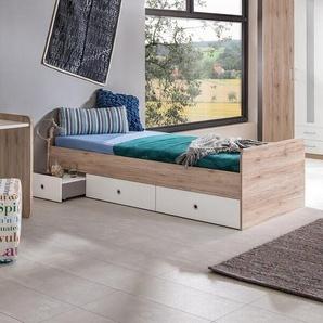 Funktionsbett Lenny mit Schubladen, 90 x 200 cm
