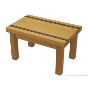 Fußbank aus Holz Tritthocker Schemel Fußhocker Buche geölt