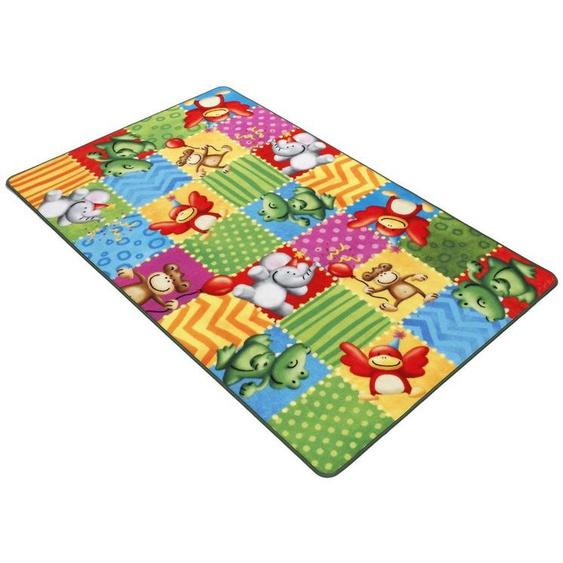 Fußmatte »Lovely Kids LK-5«, Böing Carpet, rechteckig, Höhe 2 mm, Fussabstreifer, Fussabtreter, Schmutzfangläufer, Schmutzfangmatte, Schmutzfangteppich, Schmutzmatte, Türmatte, Türvorleger, Druckteppich, Motiv Zootiere, Kinderzimmer