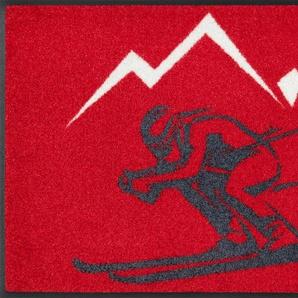 Fußmatte »Ski«, wash+dry by Kleen-Tex, rechteckig, Höhe 7 mm, Schmutzfangmatte, In- und Outddor geeignet