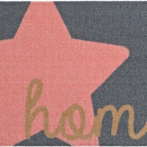 Fußmatte »Star Home«, Zala Living, rechteckig, Höhe 7 mm, Schmutzfangmatte, mit Spruch, rutschhemmend beschichtet, waschbar