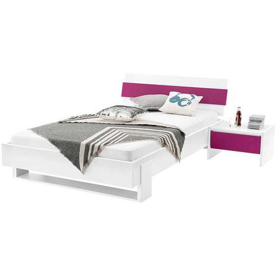 Futonbett in Weiß Pink (2-teilig)
