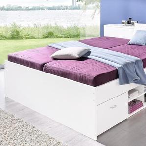 Bett, weiß, 140x200 cm, H2, , , Härtegrad 2,