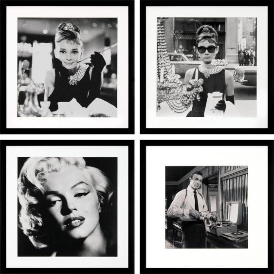 G&C Bild, gerahmt B/H: 40 cm x schwarz Kunstdrucke Bilder Bilderrahmen Wohnaccessoires Bild
