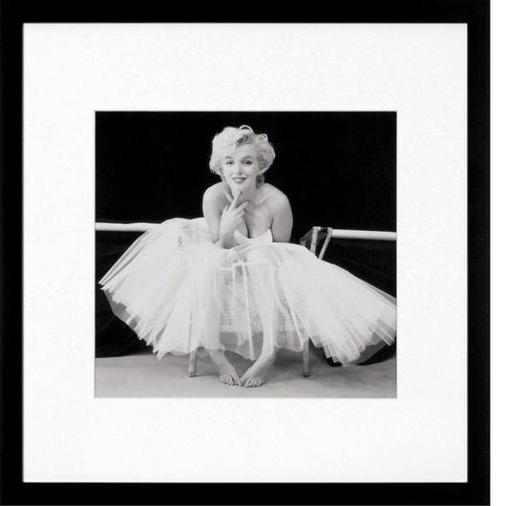 G&C Bild Marilyn Monroe Bilderset, (Set), 3 Motive à 40/40 cm, gerahmt B/H: 40 cm x schwarz Kunstdrucke Bilder Bilderrahmen Wohnaccessoires