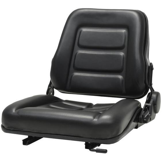 Gabelstapler- und Traktorsitz Verstellbare Rückenlehne Schwarz