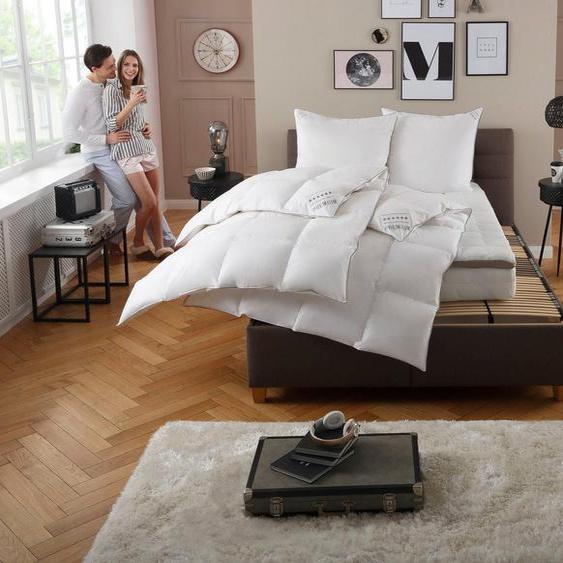 Gänsedaunenbettdecke + Kopfkissen, »Premium Tim«, my home, Material Füllung: Gänsedaune/-feder, (Spar-Set), extra weiches Gewebe und weiche Füllung