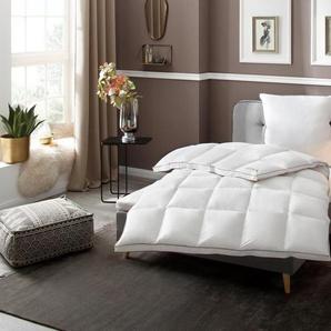 Gänsedaunenbettdecke + Kopfkissen, »Superior«, RIBECO, Füllung: Bettdecke: 100% Gänsedaunen, Bezug: 100% Baumwolle, stilvoll dekoratives Aussehen mit durchdachten Wohlfühleigenschaften