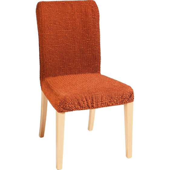 GAICO Stuhlhusse Paula, in fein gemusterter Struktur-Optik – kurz orange Stuhlhussen Hussen Überwürfe