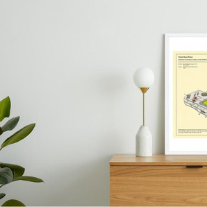Gameboy von Jazzberry Blau, gerahmter Kunstdruck (48 x 65 cm),
