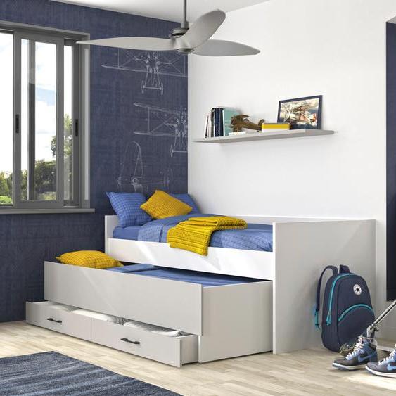 Gami Funktionsbett UGO, mit 2. Schlafgelegenheit in der Bettschublade Liegefläche B/L: 90 cm x 200 cm, Gewicht grau Stauraumbetten Funktionsbetten Betten