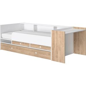Gami Stauraumbett Ewan Liegefläche B/L: 90 cm x 200 Höhe: 78,5 cm, kein Härtegrad, ohne Matratze braun Funktionsbetten Betten Schlafzimmer