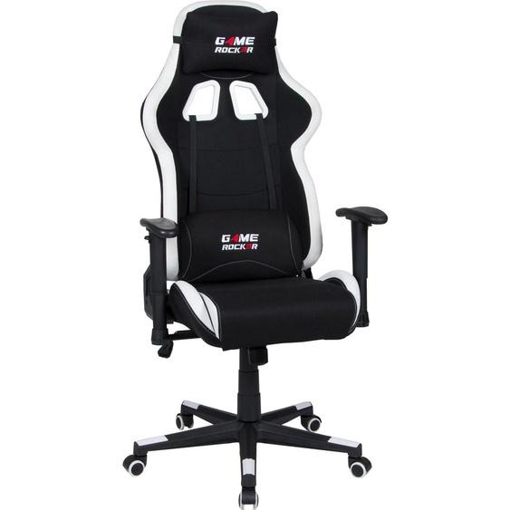 Gaming Chair »Game-Rocker G-10«, 66x125x66 cm (BxHxT), Duo Collection, schwarz, Material Stoff, Kunststoff, Polypropylen