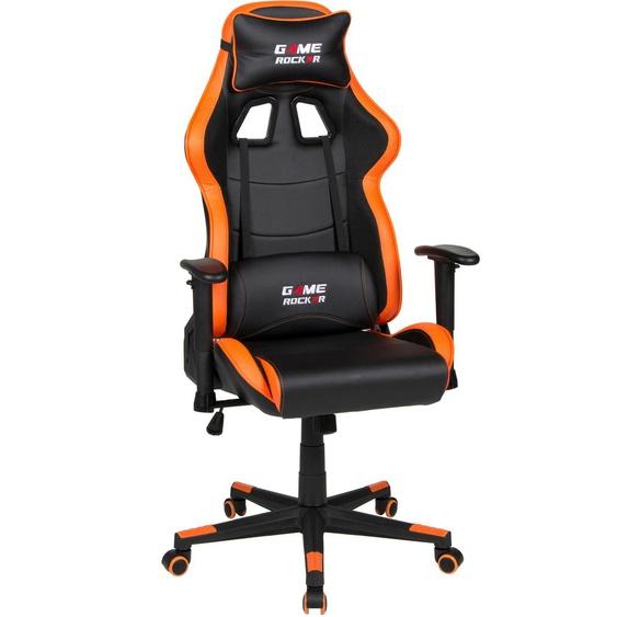 Gaming Chair »Game-Rocker G-10«, 66x125x66 cm (BxHxT), Duo Collection, schwarz, Material Kunstleder, Kunststoff, Polypropylen