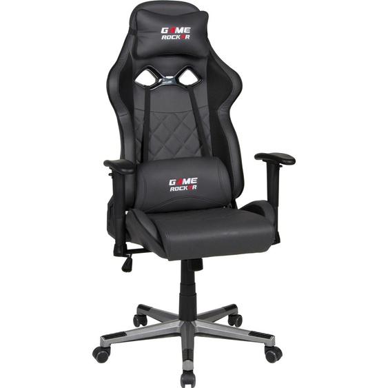 Gaming Chair »Game-Rocker G-20«, 66x128x66 cm (BxHxT), Duo Collection, schwarz, Material Kunstleder, Kunststoff, Metall, Polypropylen