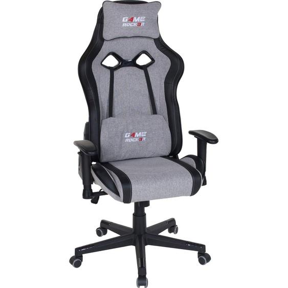 Gaming Chair »Game-Rocker G-20«, 66x128x66 cm (BxHxT), Duo Collection, grau, Material Webstoff, Kunstleder, Kunststoff, Metall