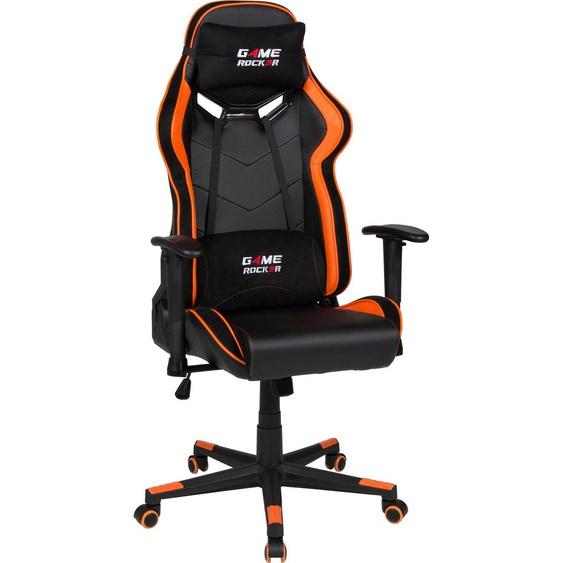 Gaming Chair »Game-Rocker G-30«, 66x128x66 cm (BxHxT), Duo Collection, schwarz, Material Kunstleder, Microfaser, Kunststoff, Metall