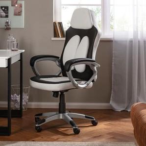 Gaming-Stuhl Niro, mit Stützkissen am Rücken, Sitzhöhe 42-52 cm B/H/T: 68 x 131 66 cm, 1 St., Kunstleder Lederoptik schwarz Gamingstühle Bürostühle Stühle Sitzbänke