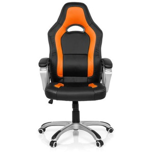GAMING ZONE PRO AB100 - Home Office Bürostuhl  Kunstleder Schwarz/Orange