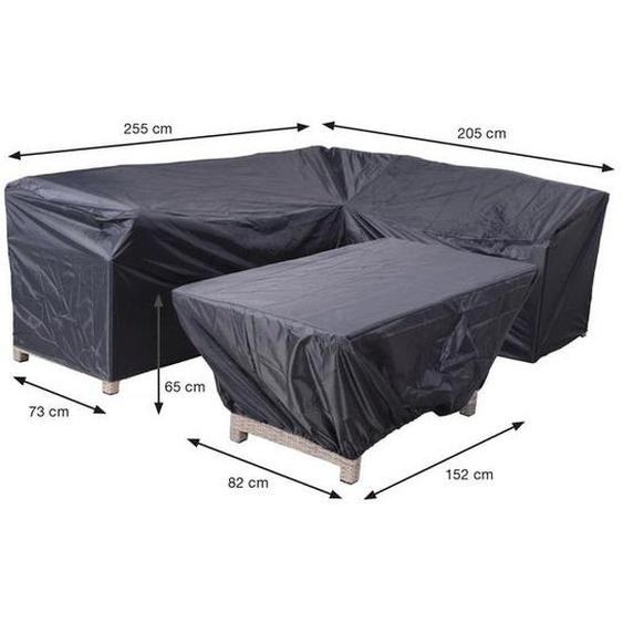 Garden Impressions Coverit 2- teiliges Schutzhüllenset für Loungegruppen L-Form 205/255x73x80cm Dunkelgrau