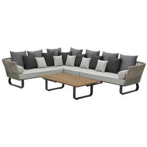 Garden Impressions Jive Loungeset 4-tlg. Rope/Polster Taupe/Sand