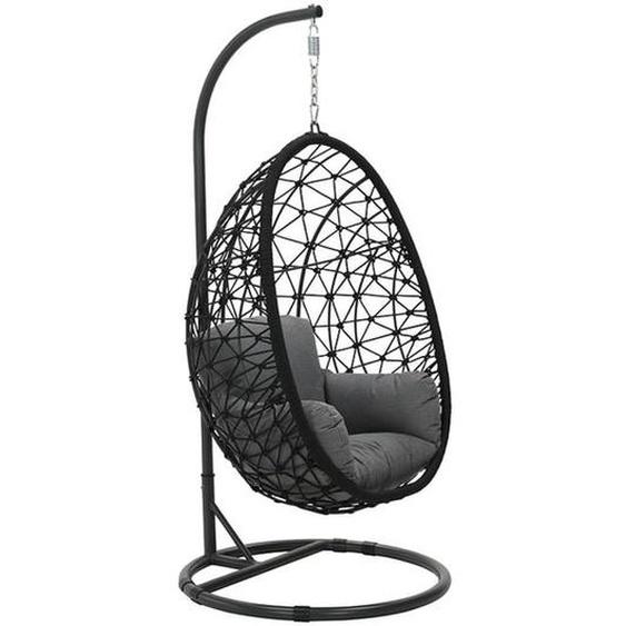 Garden Impressions Panama Hängekorb Rope/Polster Carbon Black/Light Grey Dunkelgrau