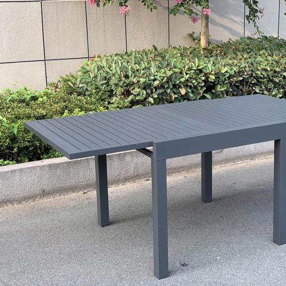 Garden Pleasure Gartentisch ELENA, zum ausziehen H: 75 cm grau Gartenmöbel Gartenparty Aktionen Themen