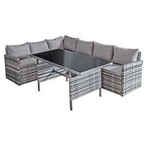 Harms Garden Pleasure GIRONA Loungegruppe grau