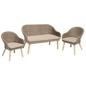 Harms Lounge-Sessel-Set Garden Pleasure Pueblo braun