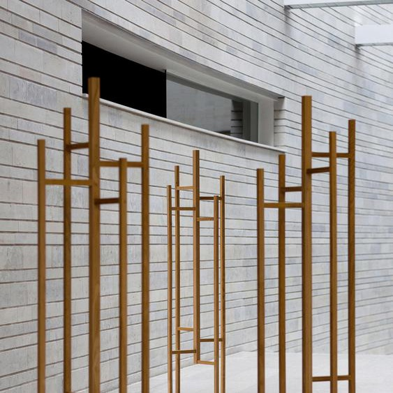 Garderobe, braun, Material Eiche / Massivholz »Justice«, Woodman