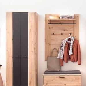 Garderobe Carvin 31 Balkeneiche Cosmos grey 3-teilig Garderobenset - VARIANTE: Set-Inhalt: ohne Sitzkissen