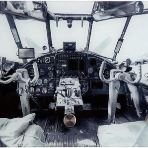 Garderobe »Flugzeugcockpit alt«, grau, 25x0,4x40 cm,
