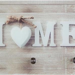 Garderobe »Home«, beige, 25x0,4x40 cm, Vintage-Stil, , ,