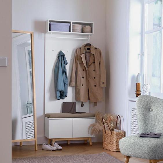 Garderobe mit Sitzbank - beige - Holz -