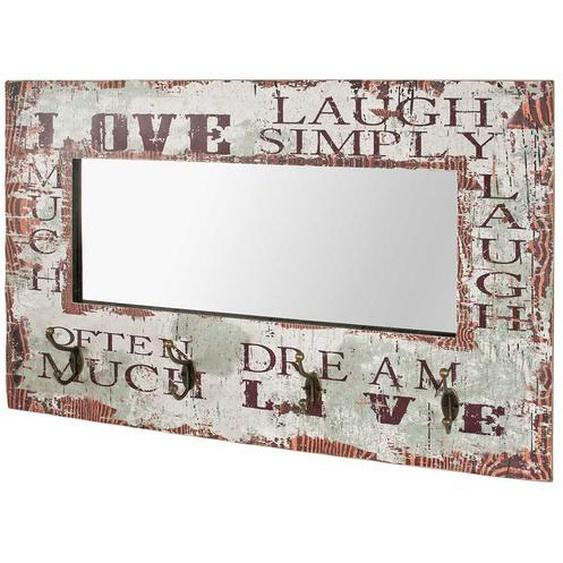 Garderobe mit Spiegel Schriftzug