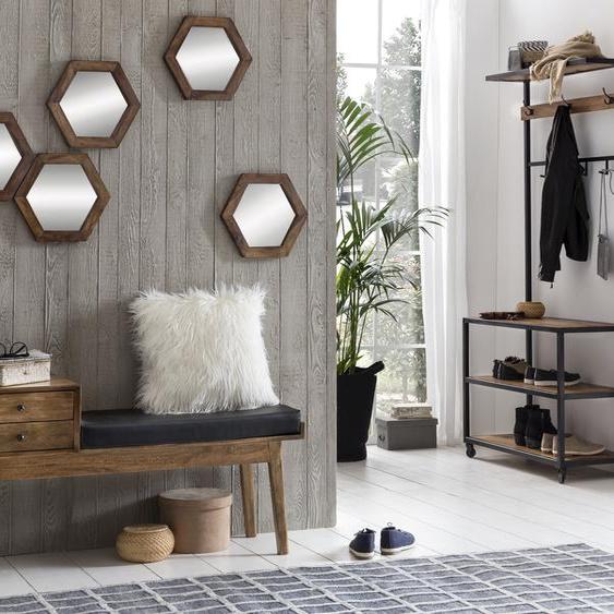 Garderobe »Panama«, 90x190x40 cm (BxHxT), SIT-Möbel, Material Metall, Holz