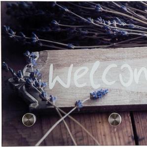 Garderobe »Welcome«, beige, 25x0,4x40 cm,