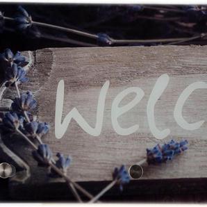 Garderobe , beige, 30x0,4x80 cm, »Welcome«,