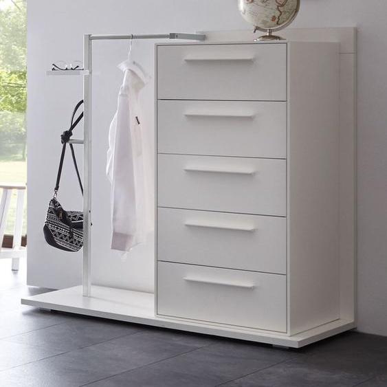 Garderoben-Kommode Cilona, Buche weiß