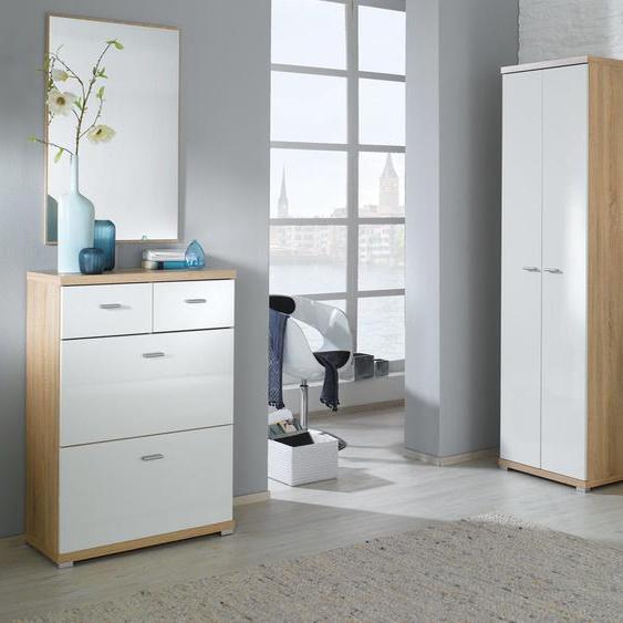 Garderoben Komplett Set Vineto Sonoma Eiche Weiss Garderobe Hochschrank Spiegel